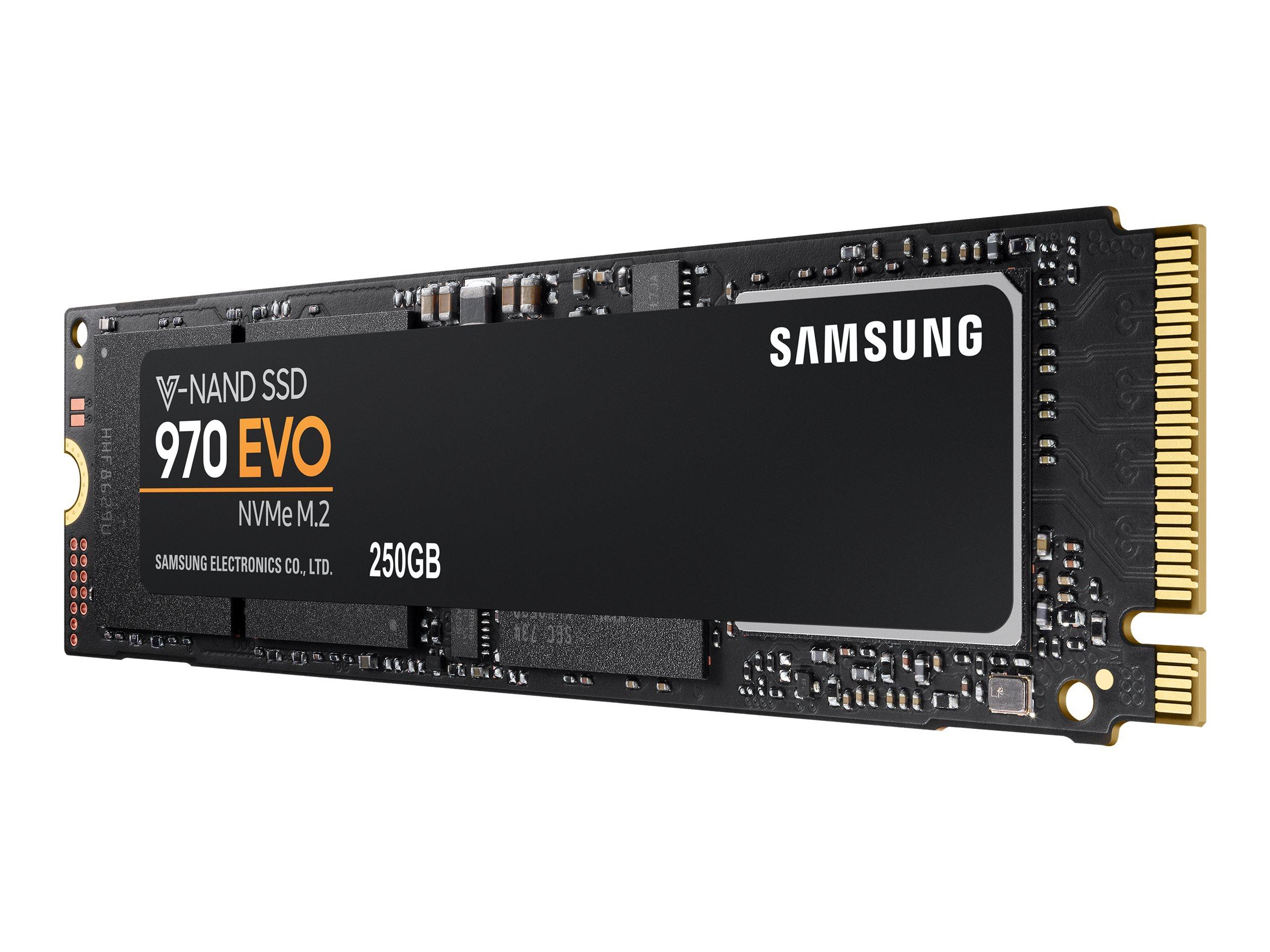 Samsung 970 EVO MZ-V7E250E - Solid-State-Disk - verschlüsselt - 250 GB - intern - M.2 2280