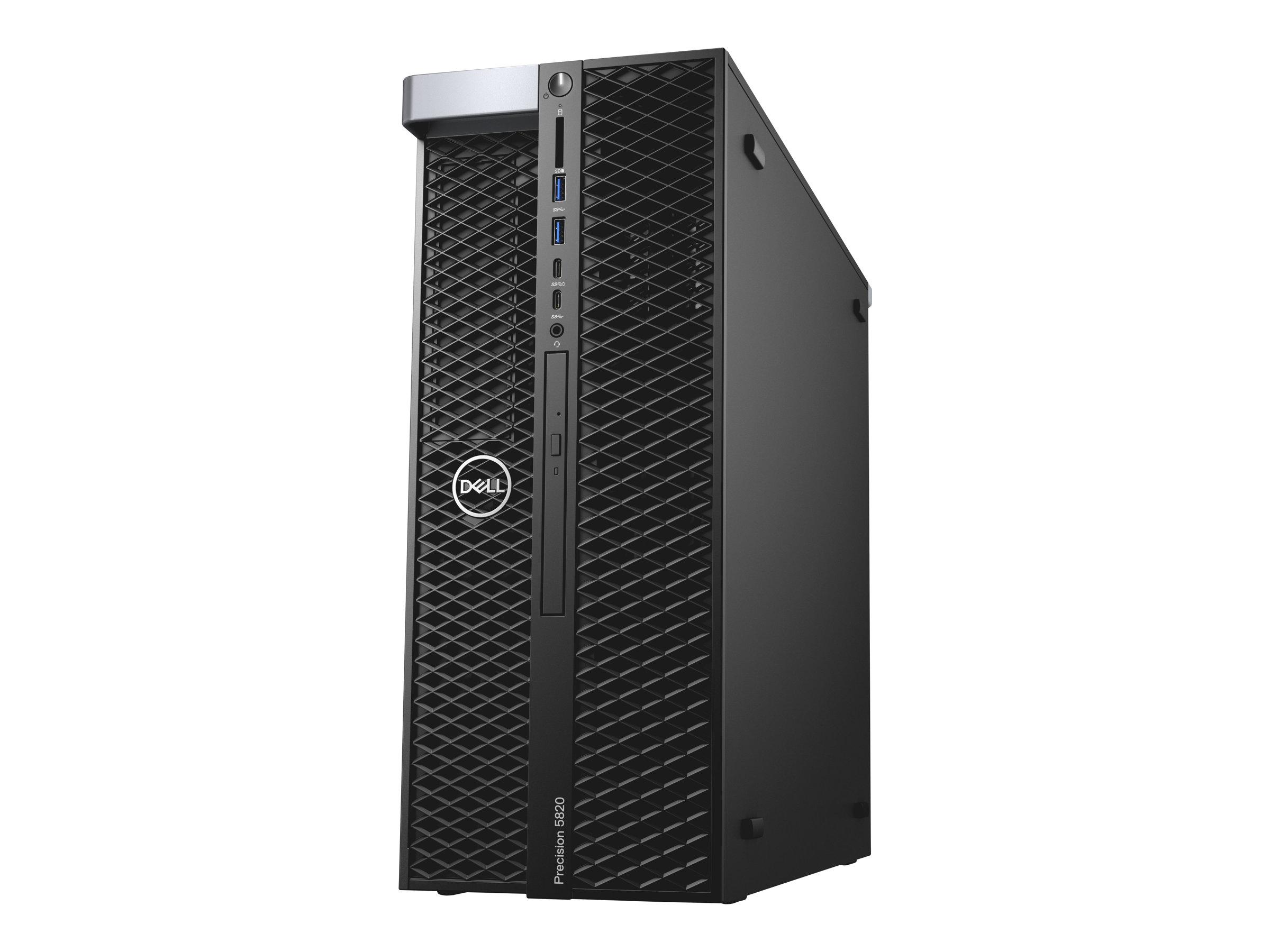 Dell 5820 Tower - MDT - 1 x Core i9 10920X X-series / 3.5 GHz - RAM 16 GB - SSD 512 GB - DVD-Writer