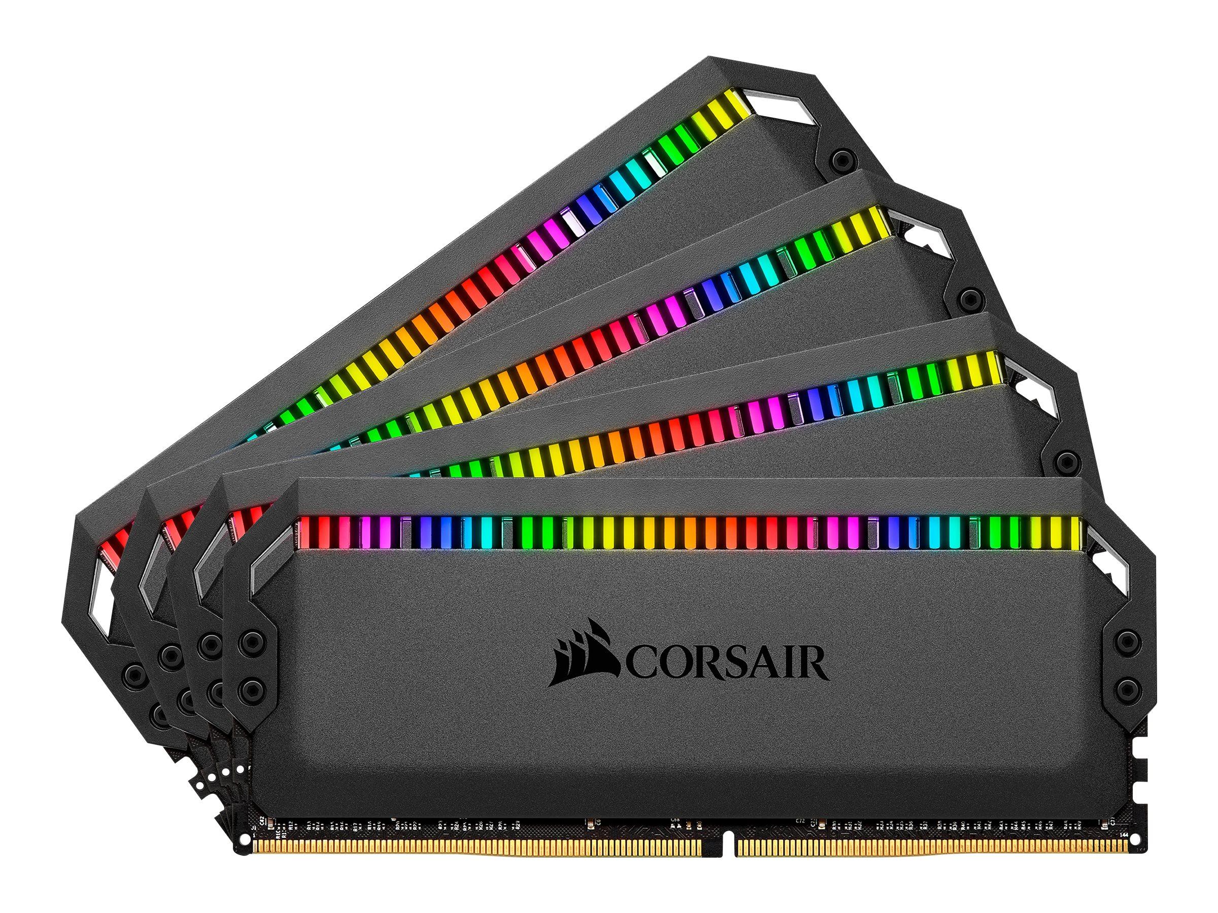 CORSAIR Dominator Platinum RGB - DDR4 - 128 GB: 4 x 32 GB - DIMM 288-PIN - 3200 MHz / PC4-25600 - CL16