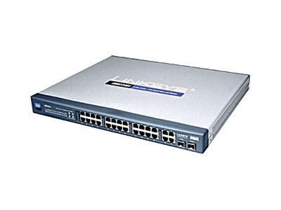 Cisco Small Business Managed SRW224G4 - Switch - managed - 24 x 10/100 + 2 x Kombi-Gigabit-SFP + 2 x 10/100/1000 - an Rack montierbar