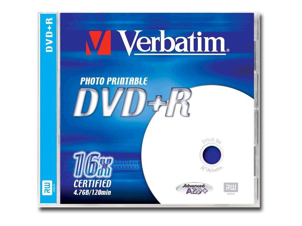 Verbatim - DVD+R - 4.7 GB 16x - in Fotoqualität bedruckbare Oberfläche