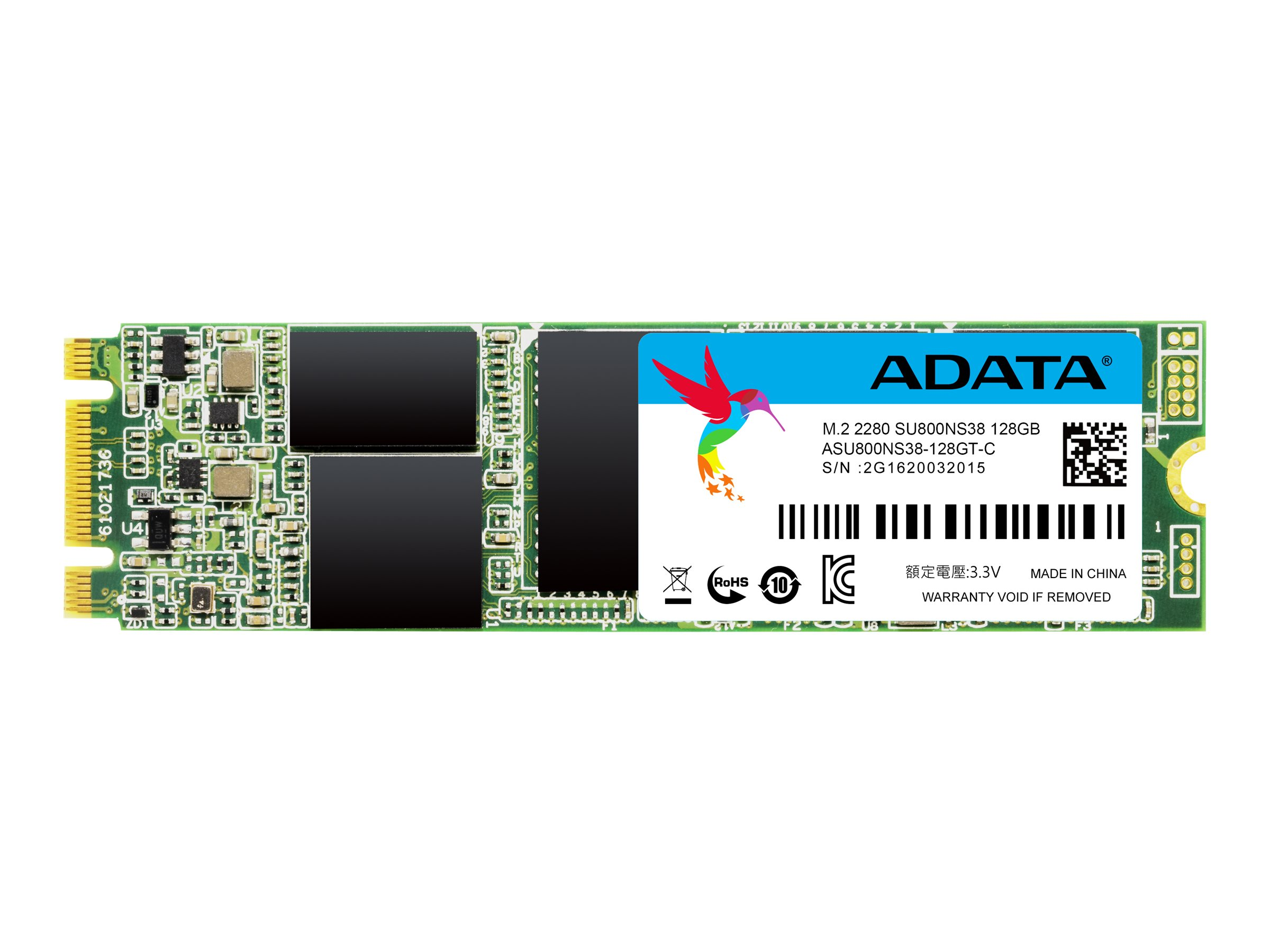 ADATA Ultimate SU800 - Solid-State-Disk - 128 GB - intern - M.2 2280 - SATA 6Gb/s