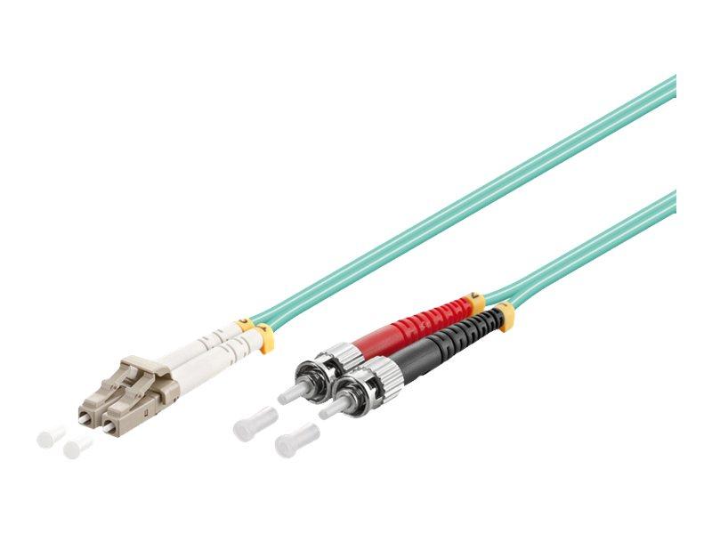 goobay - Netzwerkkabel - ST multi-mode (M) bis LC Multi-Mode (M) - 5 m - Glasfaser - 50/125 Mikrometer