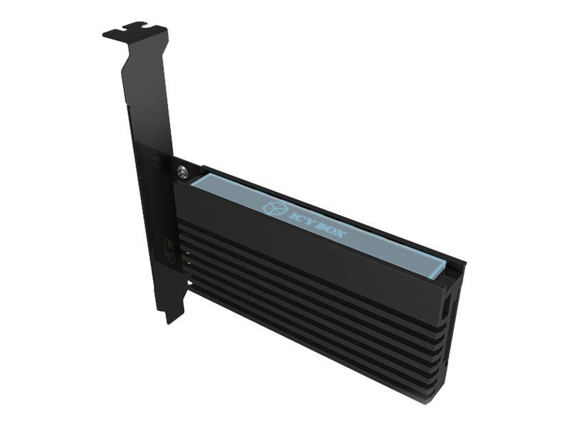 RaidSonic ICY BOX IB-PCI214M2-HSL - Schnittstellenadapter - M.2 - M.2 Card - 32 Gbit/s - PCIe 3.0 x4