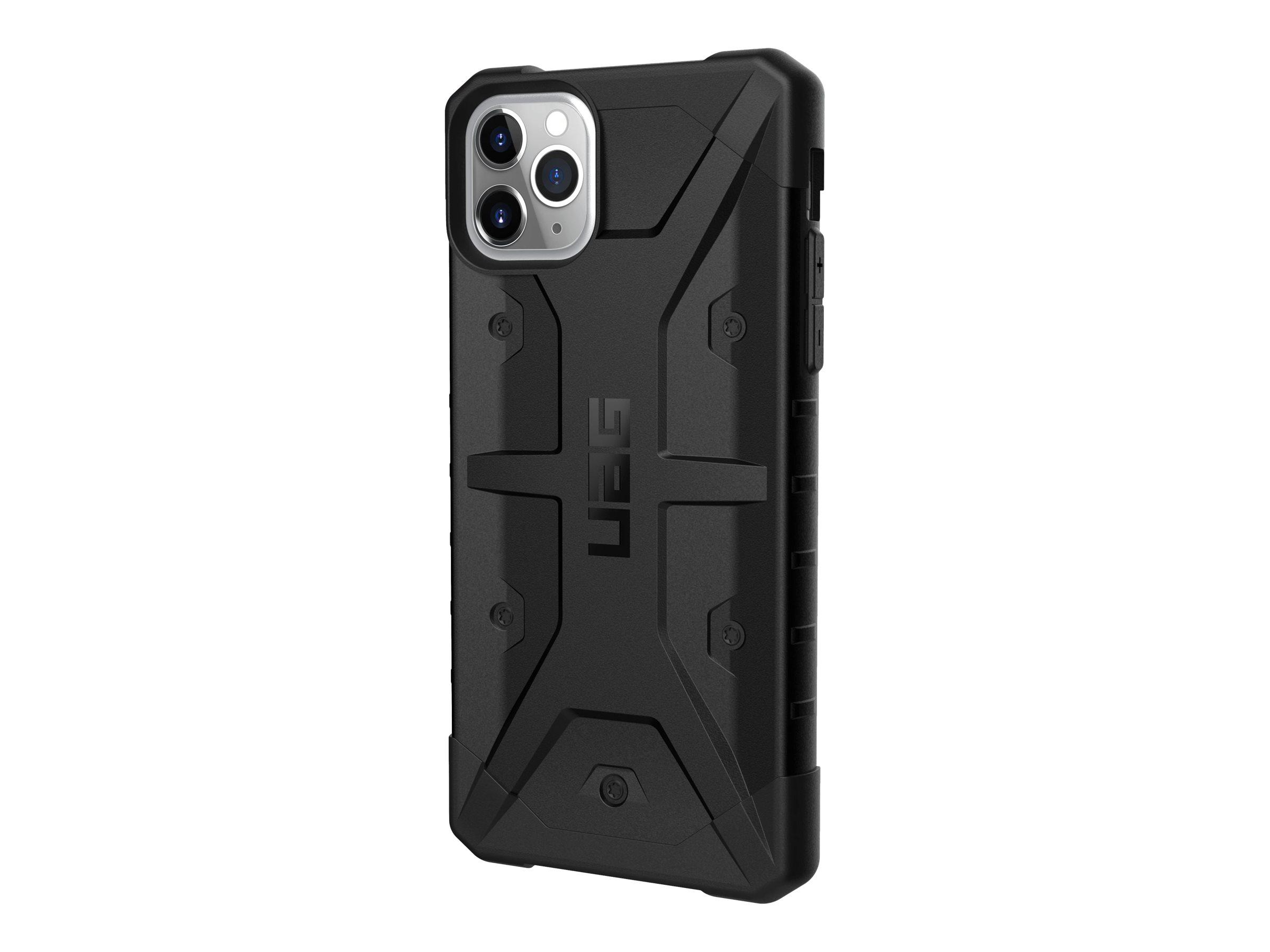 UAG Rugged Case for iPhone 11 Pro Max [6.5-inch screen] - Pathfinder Black - Hintere Abdeckung für Mobiltelefon - widerstandsfähig - composite - Schwarz