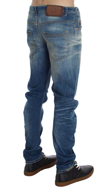 ACHT Blue Wash Cotton Slim Twist Fit Jeans