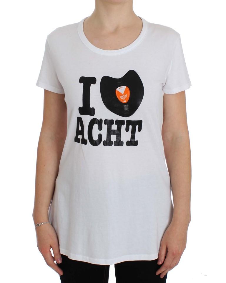 ACHT White Cotton Crewneck T-shirt