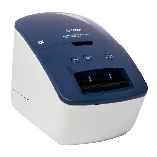Etikettendrucker Brother QL600B 300 dpi 71 mm/s USB 2.0 Blau