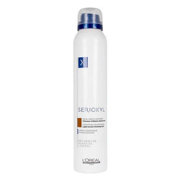 Spray für Volumen und Farbe Serioxyl L'Oreal Expert Professionnel Light Brown (200 ml)