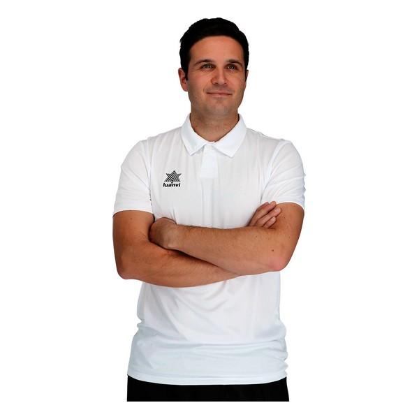 Kurzarm Poloshirt Luanvi Pol Weiß