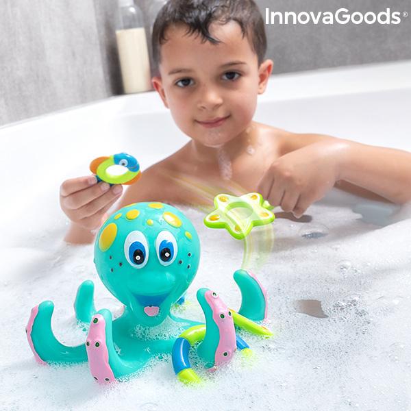 Schwimmender Oktopus mit Ringen Ringtopus InnovaGoods 6 Stücke