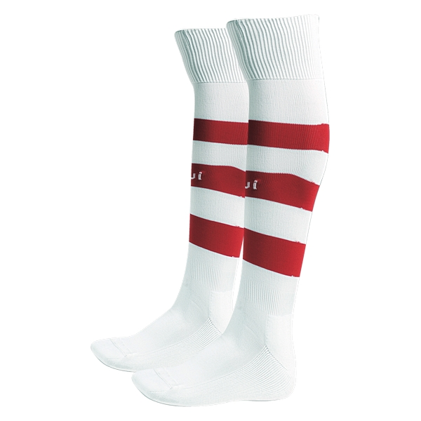 Fußballsocken Luanvi Listada Polyamid/Baumwolle Weiß Rot