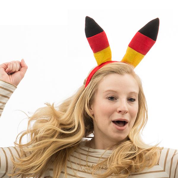 Haarreif mit Deutschland-Flagge