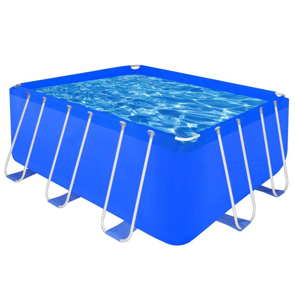 schwimmanlage stahlrahmen rechteckig oberirdisch 8870 l. Black Bedroom Furniture Sets. Home Design Ideas