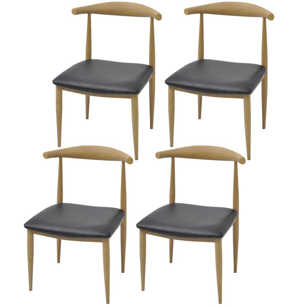 Schön Küchen Und Esszimmerstühle Sammlung Von Vidaxl Esszimmerstühle 4 Stk Schwarz