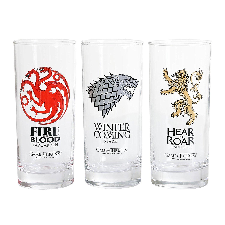 GAME OF THRONES - 3er Gläser Set